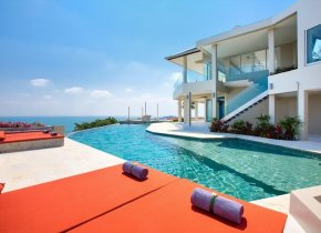 Stunning 6-Bed Seaview Pool Villa, Cheong Mon