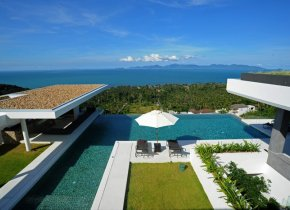 Contemporary Luxury 5-Bed Seaview Villa, Bang Por
