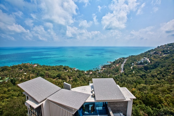 Ultra Modern 5 Bed Seaview Chaweng Villa For Sale Koh