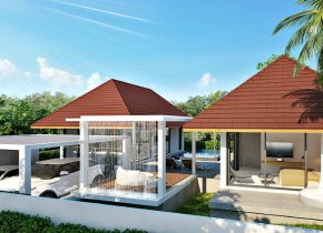 Interesting design modern villas with a pool for sale in Choeng Mon