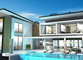 Striking 4 bedroom villa with breathtaking panoramic sea views for sale on Samui