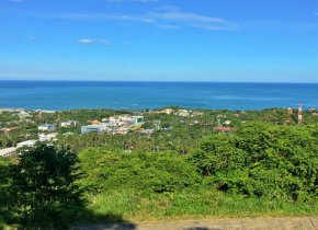 A lovely plot of land with great views over the sea for sale in Chaweng