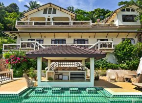 Perched on a hill 5 Bedroom Villa with unending sea views for sale in Samui