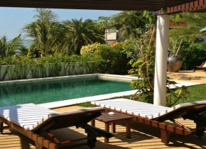 3 bedroom residence with nice sea views for rent in Plai Laem, Samui
